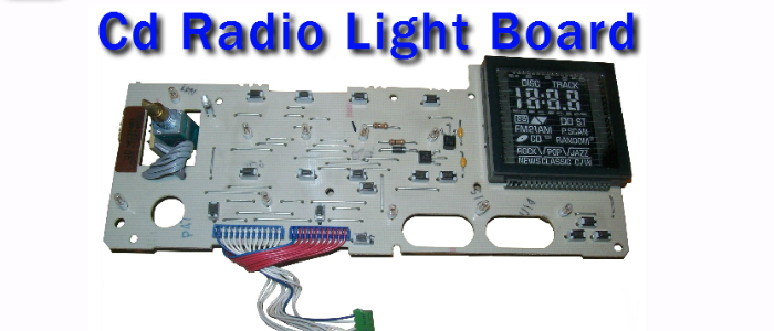 delco radio light board