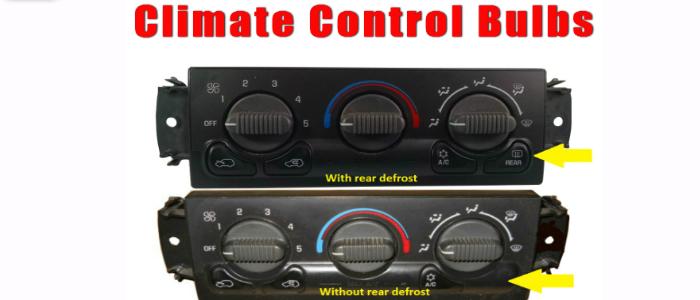delco climate control bulbs