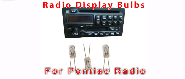 pontiac radio display bulbs
