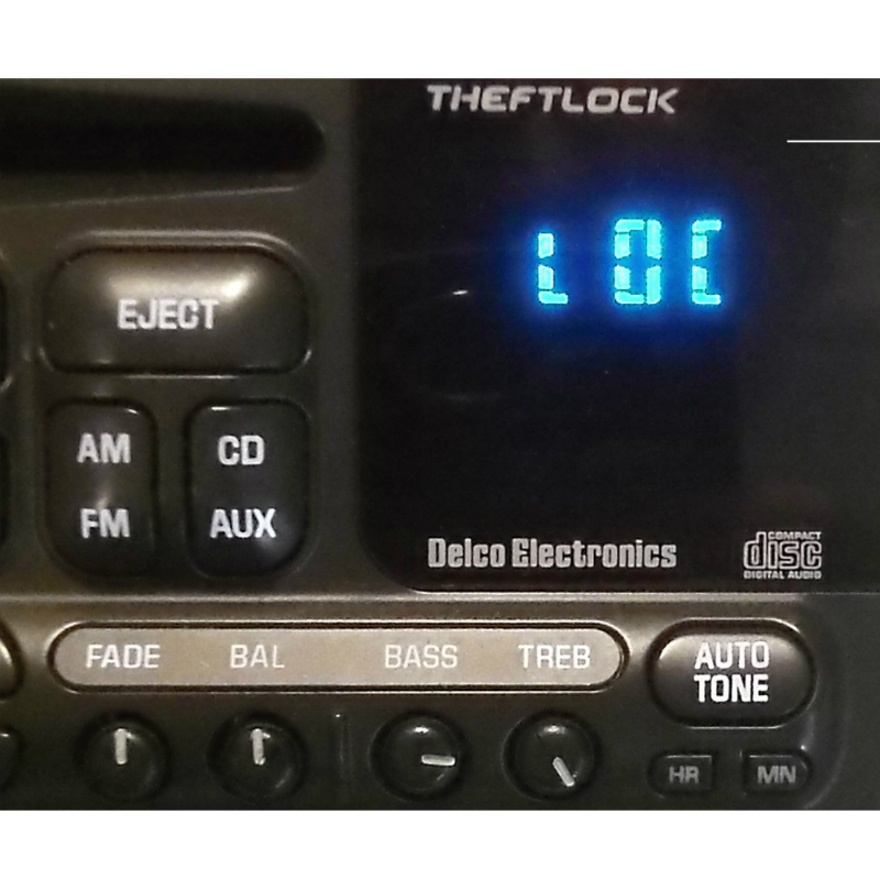 Guaranteed Delco GM Radio Theftloc Unlock Code