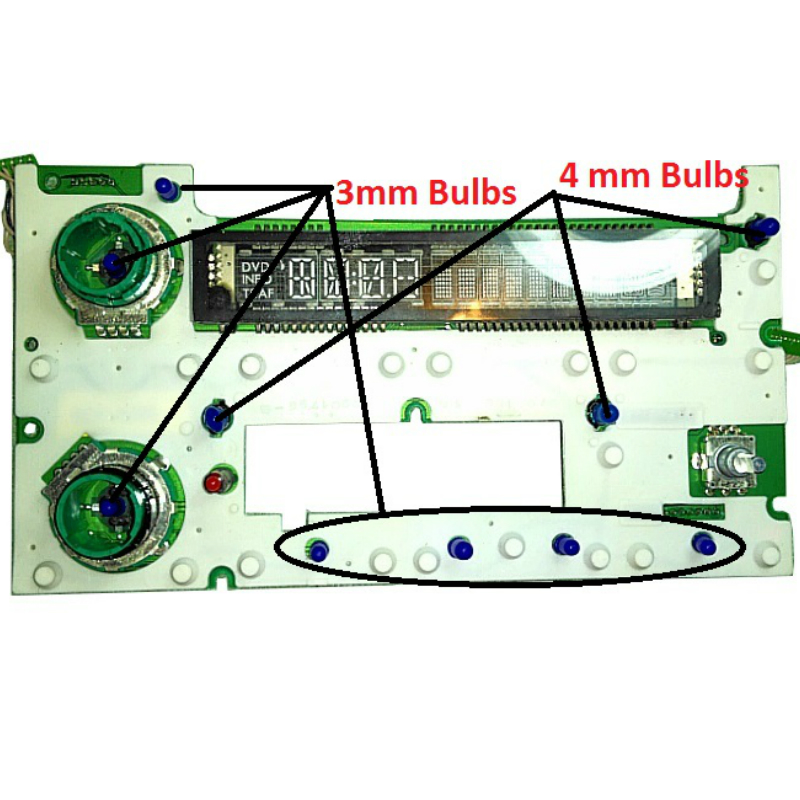 2003 to 2007 Silverado Radio Display Bulbs