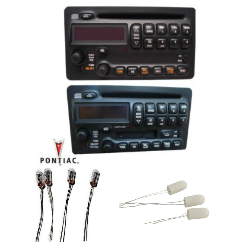 Pontiac Radio Display Bulb Kit set of 7