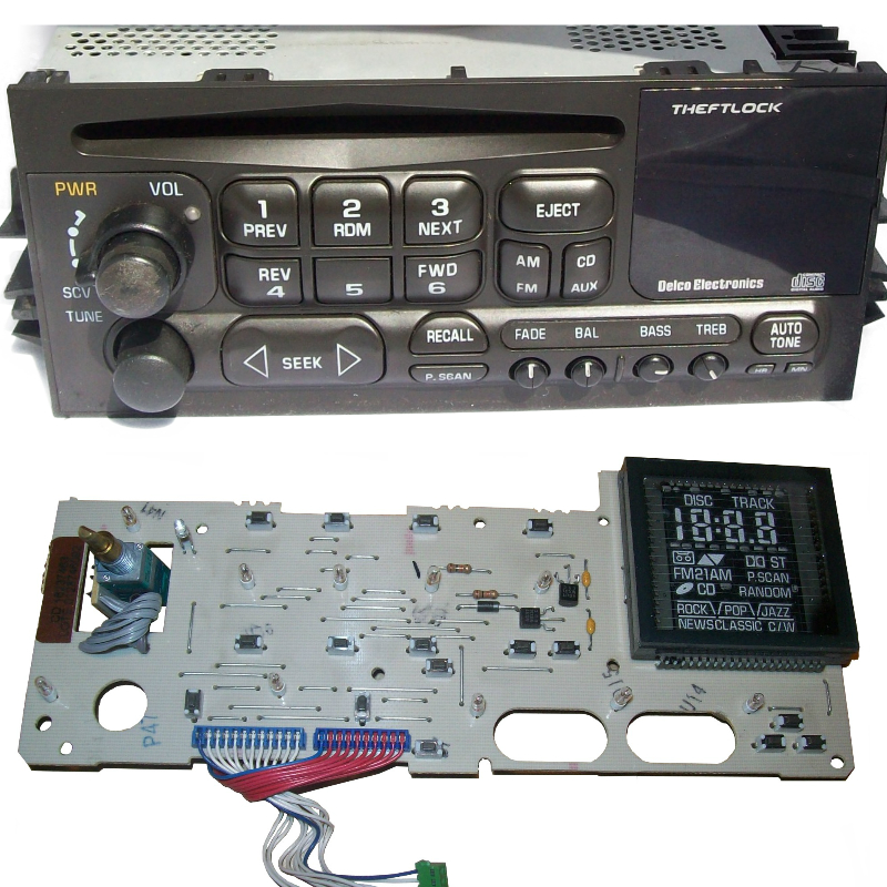 Delco Radio Display Light Board CD Radio