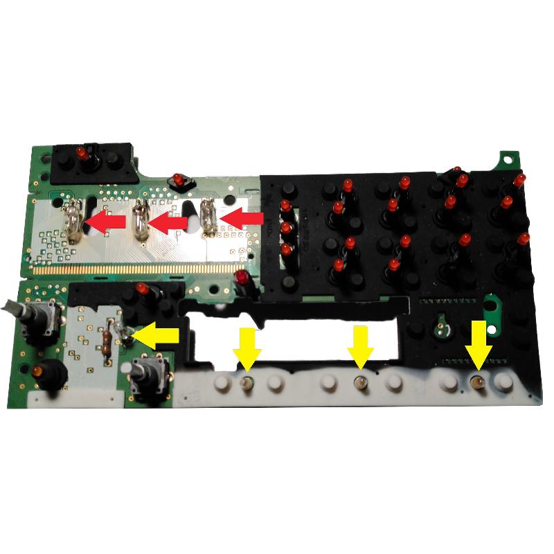 Pontiac Radio Display Bulb Kit set of 7