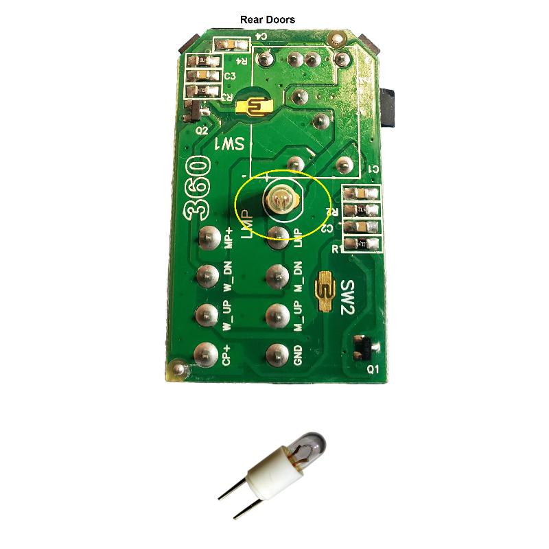 2002-2005 Trailblazer Envoy Power Window Switch Light Bulbs