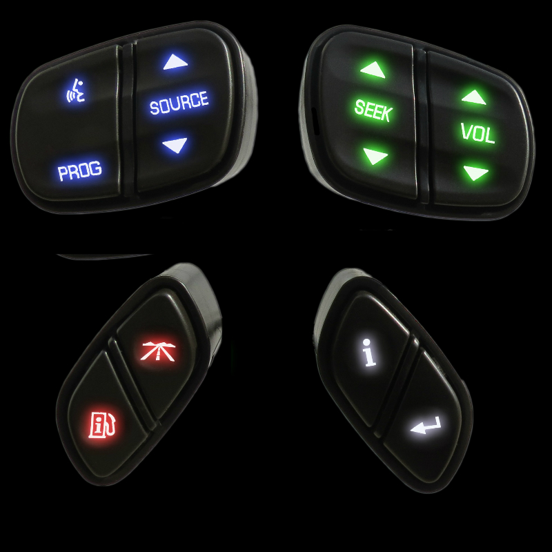 Led Steering Wheel Radio Control Switches for GMC Chevrolet Trucks And Suv's