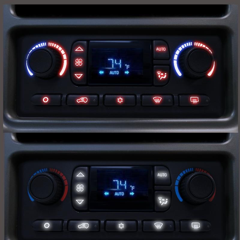 DELCO 03-07 Automatic Truck Heater Control Panel LED Upgrade Service