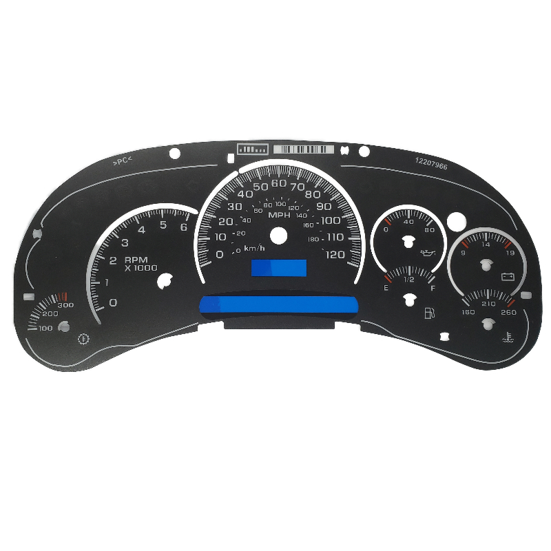 2003-2005 GM Trucks Gauge Face Black